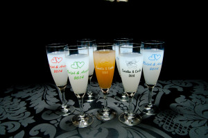 Sektglas bedrucken lassen
